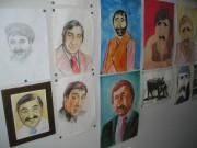 Портреты актера, нарисованные детьми для Дома-музея