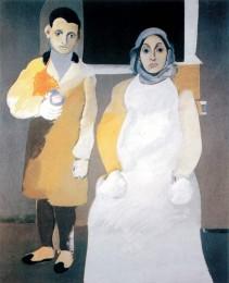 Автопортрет с матерью, 1926