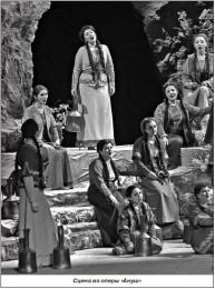 Сцена из ранних постановок оперы «Ануш»
