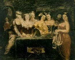 Александр Бажбеук-Меликян. Женщины у зеркала. 1941